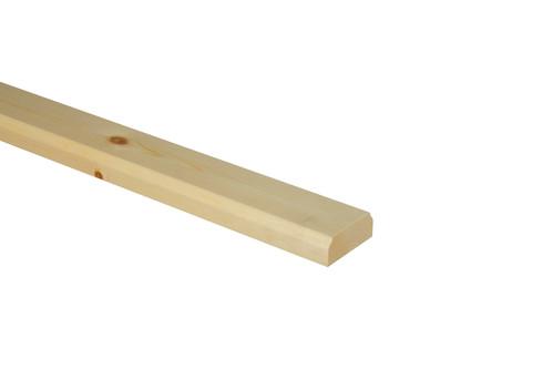 1 Pine Baserail No Groove 3600