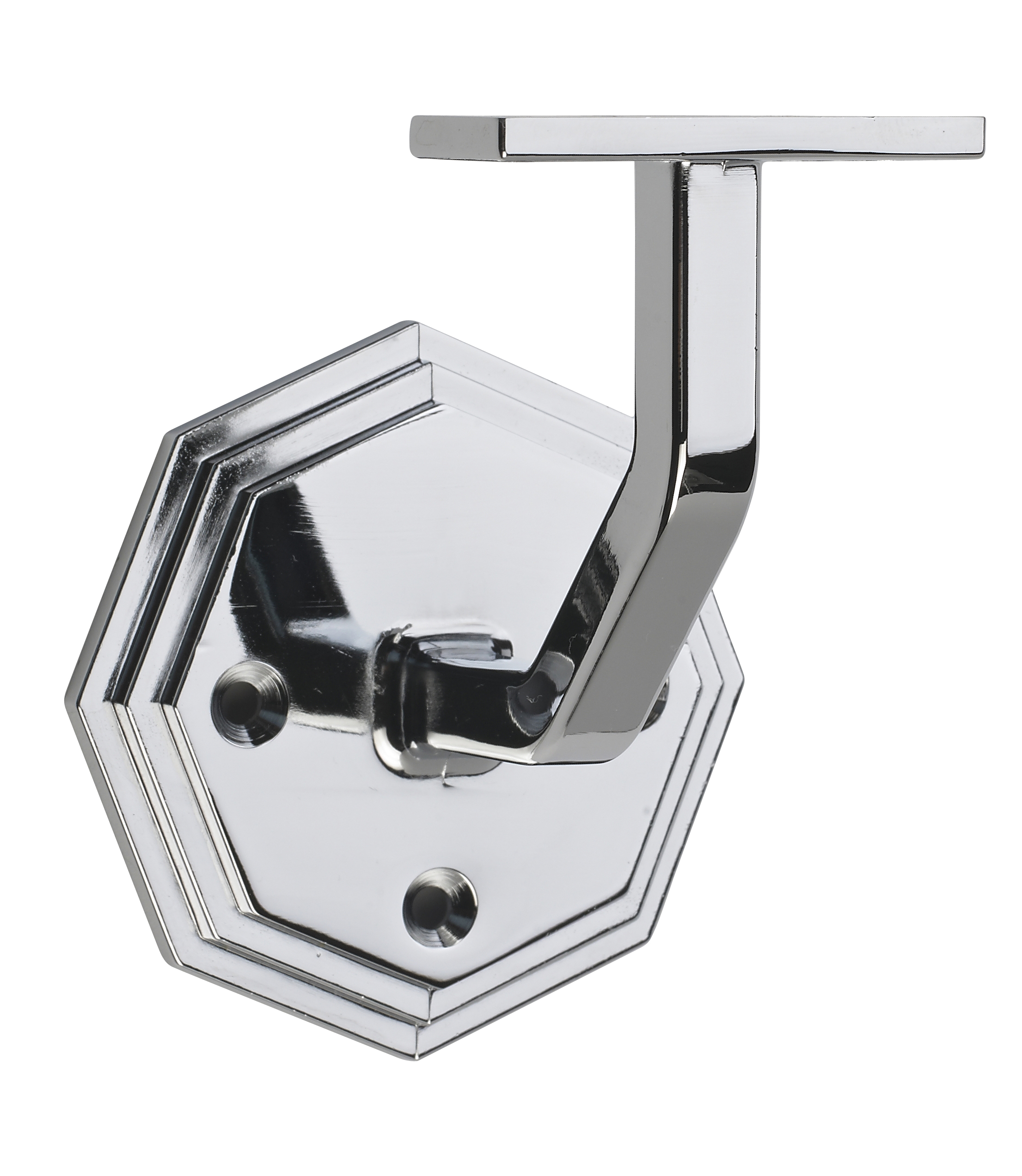 1 Octagonal Chrome Wall Bracket