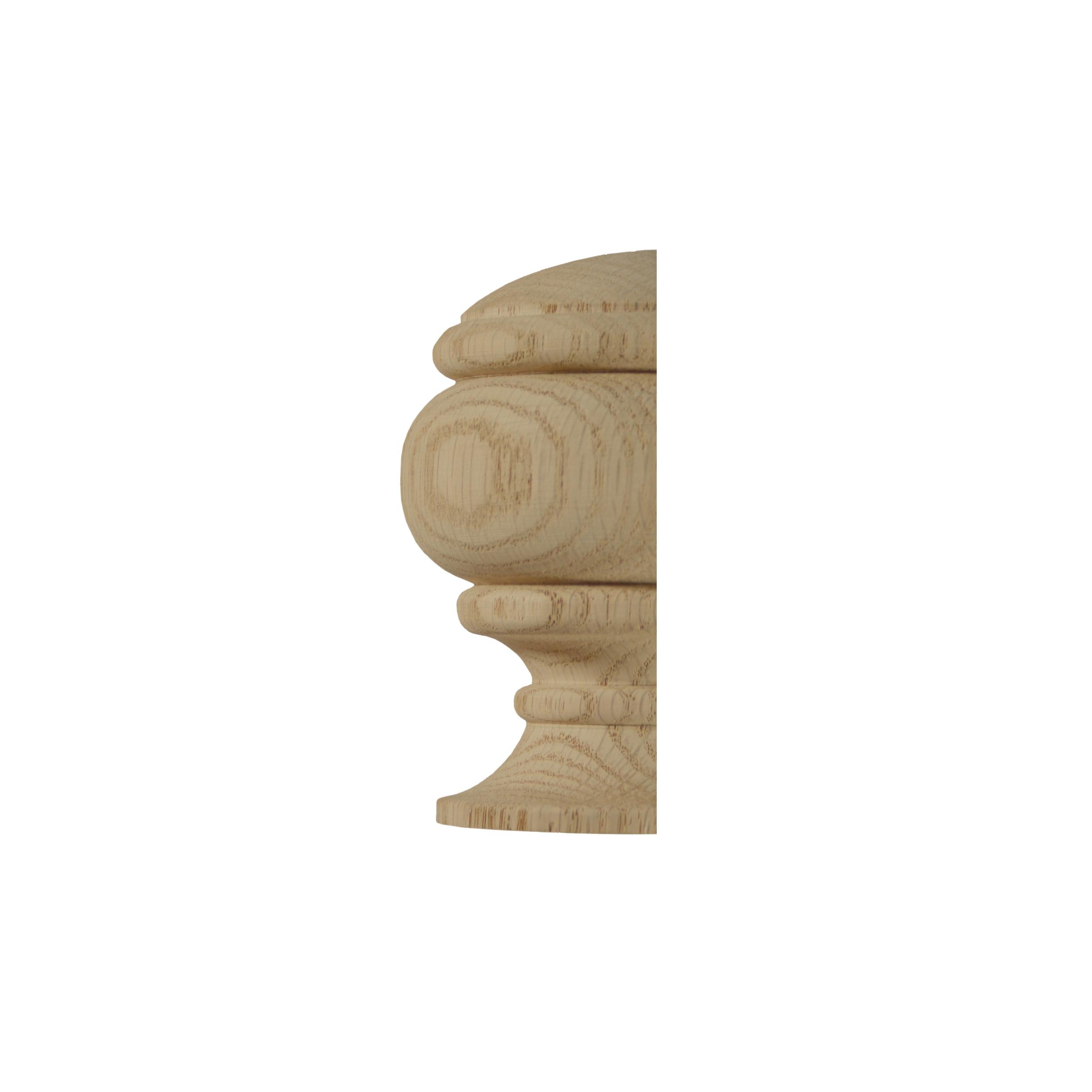 1 Classic Oak Half Newel Cap 90