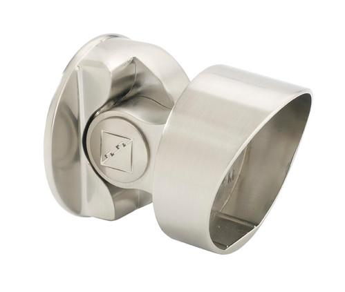 1 Fusion Storey Newel Bracket Brushed Nickel