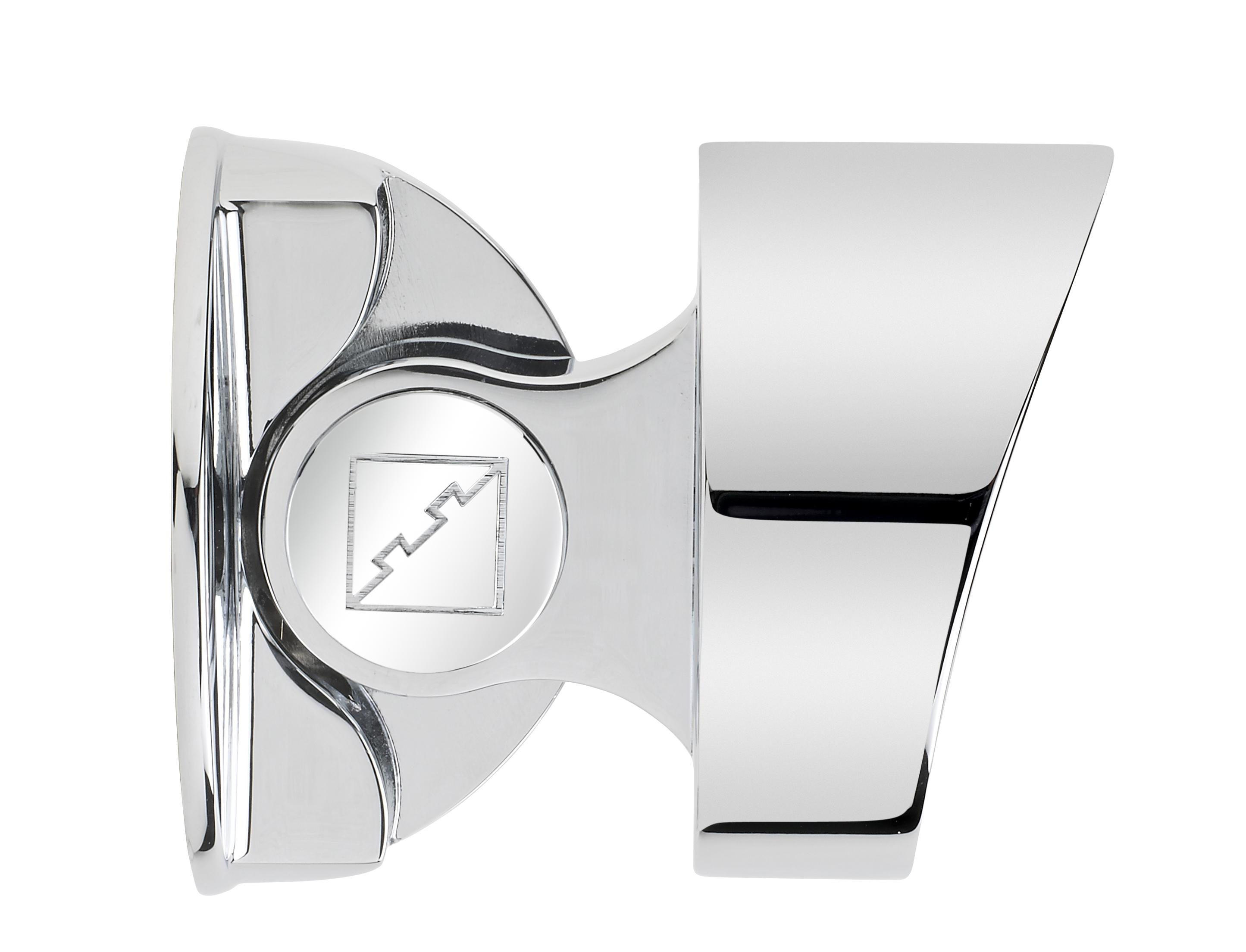 1 Fusion Storey Newel Bracket Chrome Efect