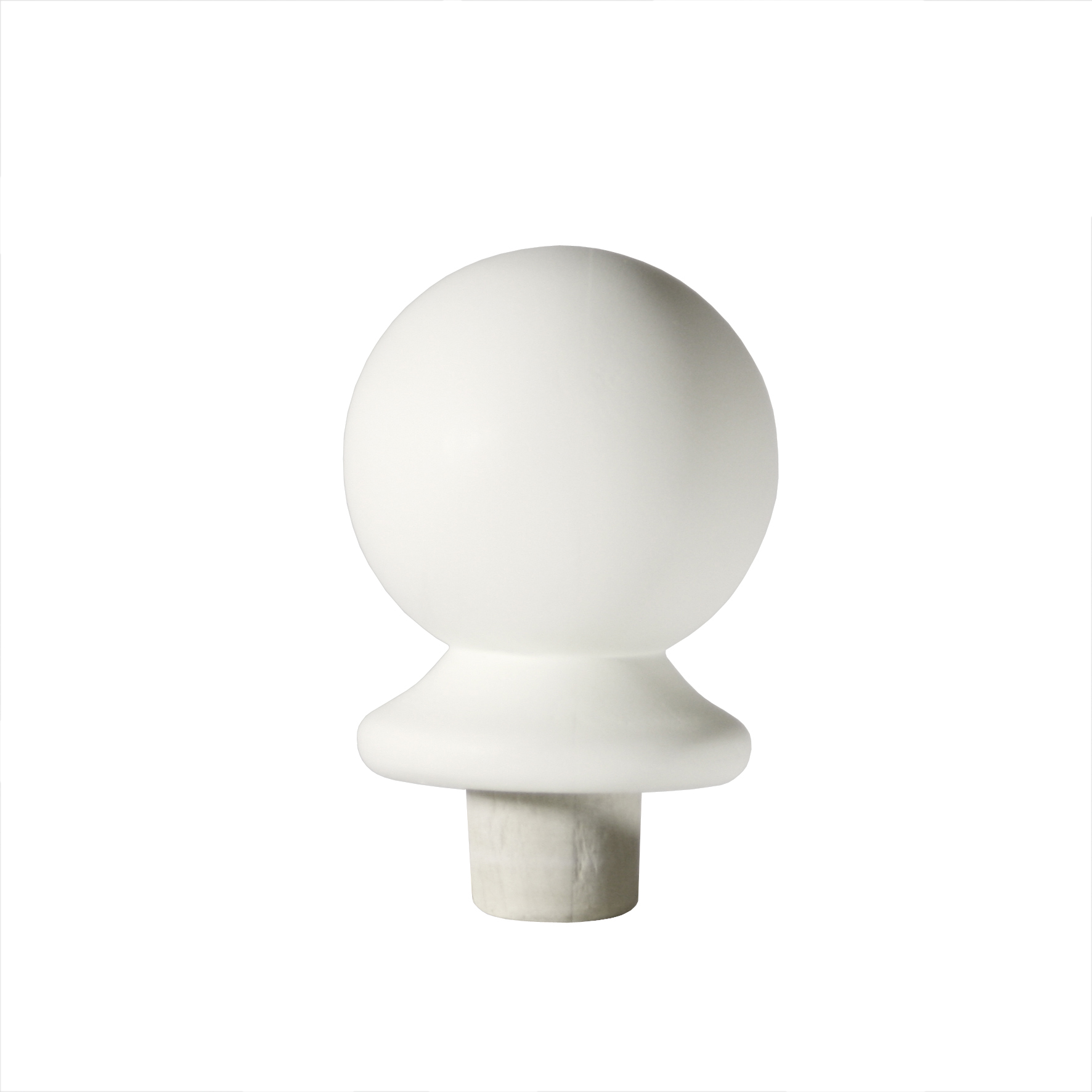 1 White Newel Ball Cap 90