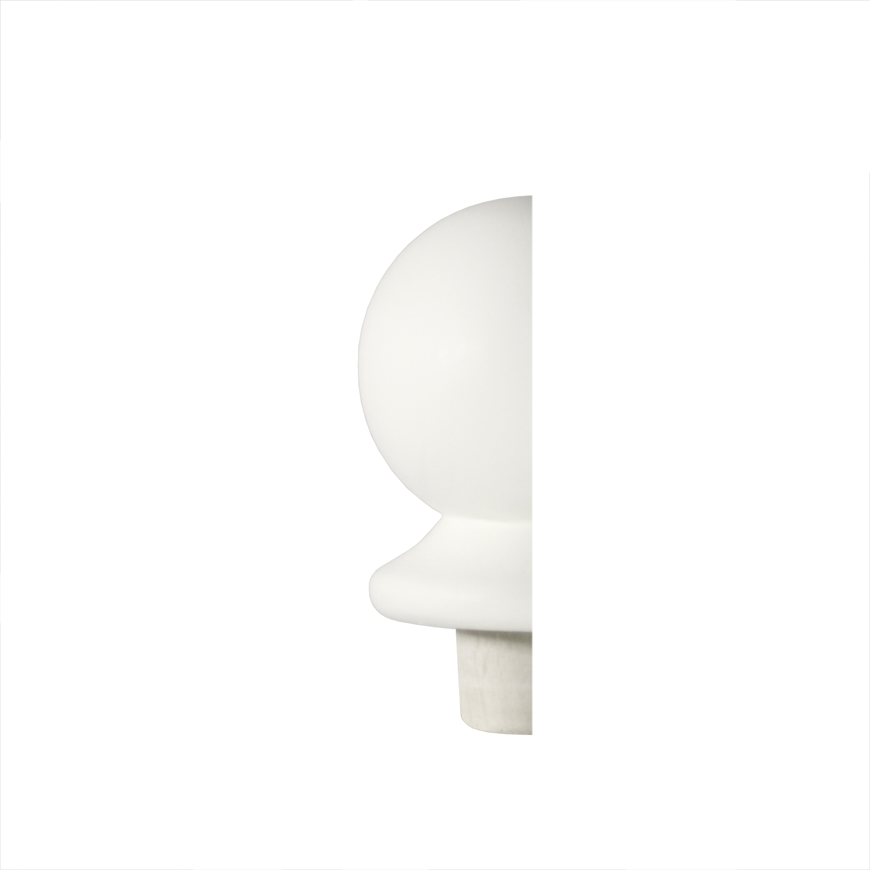 1 White Half Ball Newel Cap 90