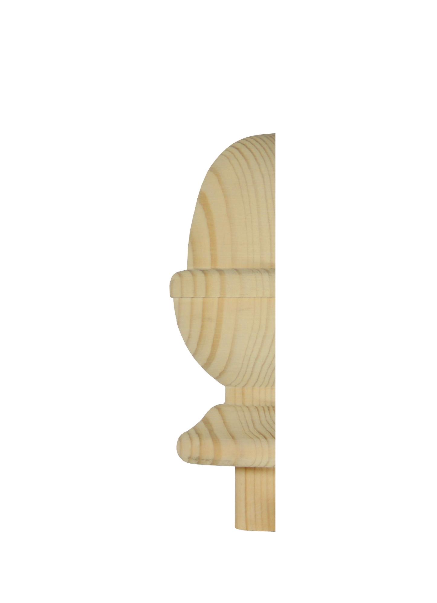 1 Pine Half Acorn Newel Cap 90