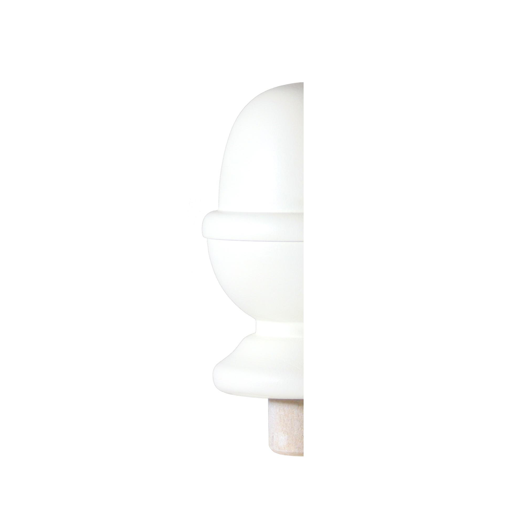 1 White Half Acorn Newel Cap 90