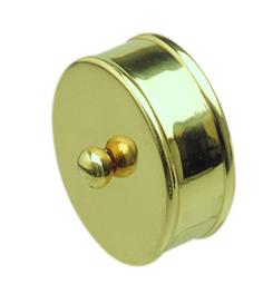 2 Brass Effect Medium End Cap