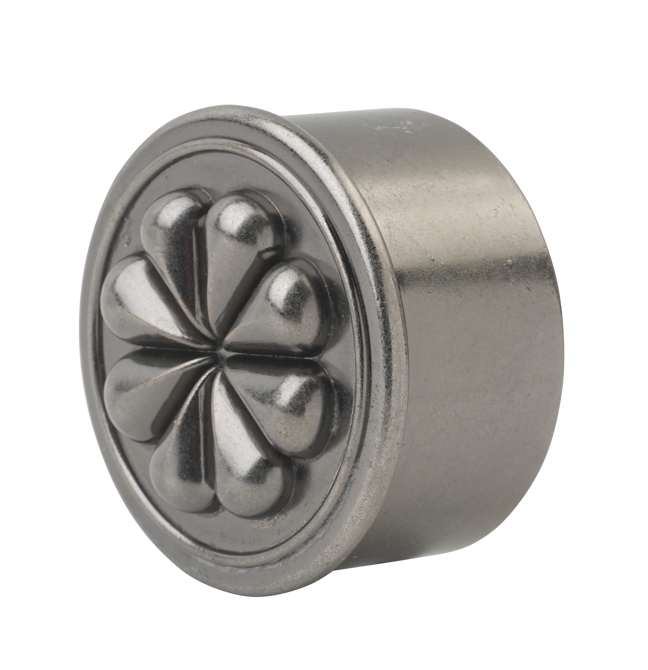2 Petal Pewter Effect End Cap