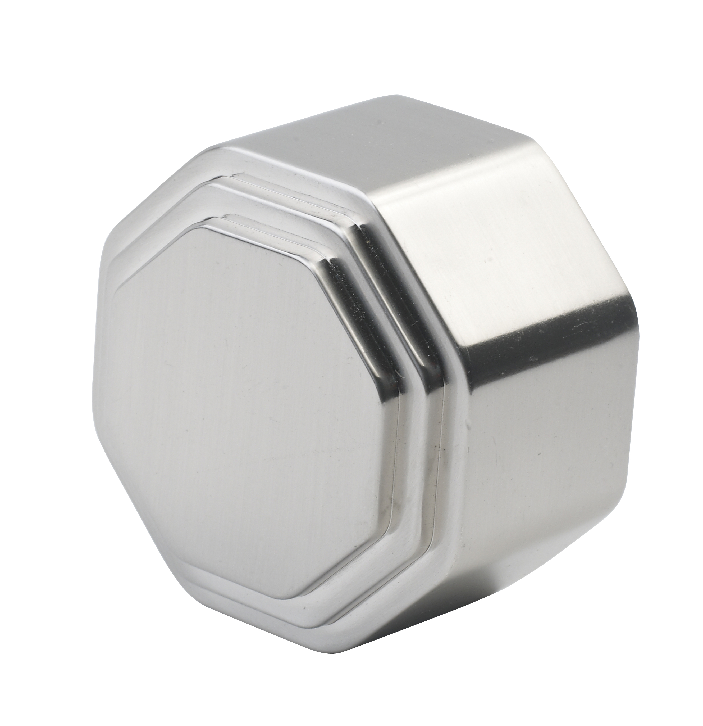 2 Octagonal Chrome End Cap