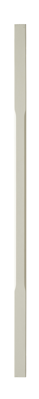 1 White Stop Chamfer Baluster