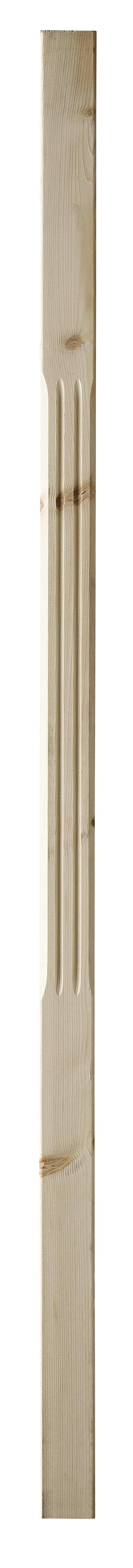 1 Pine Stop Chamfer Fluted Baluster 1100 41