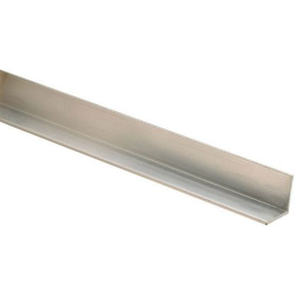 10 Aluminium Square Angle Mouldings 25 x 25 x 2400mm