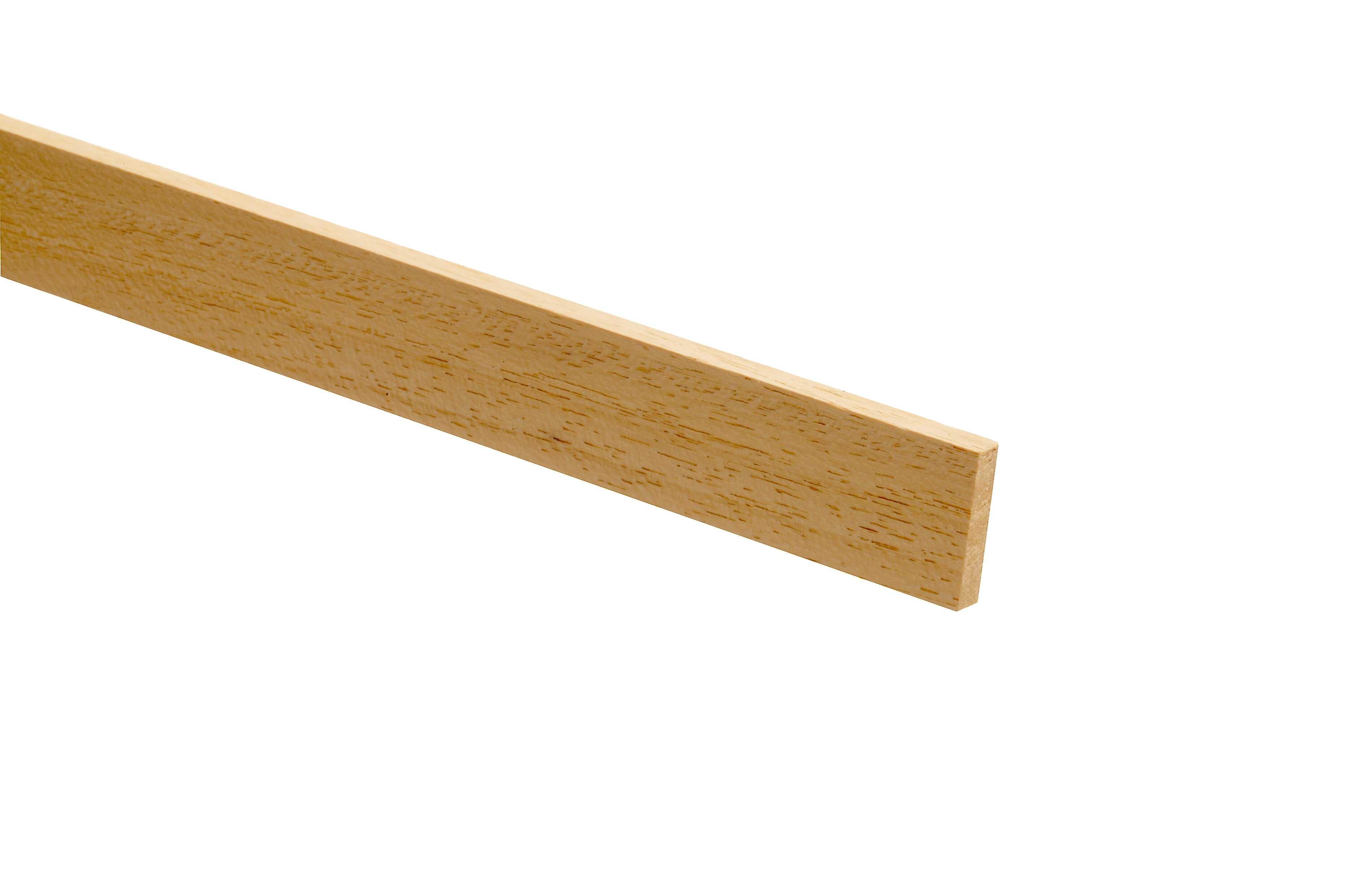 10 Light Hardwood PSE Stripwood 12 x 25 x 2400mm