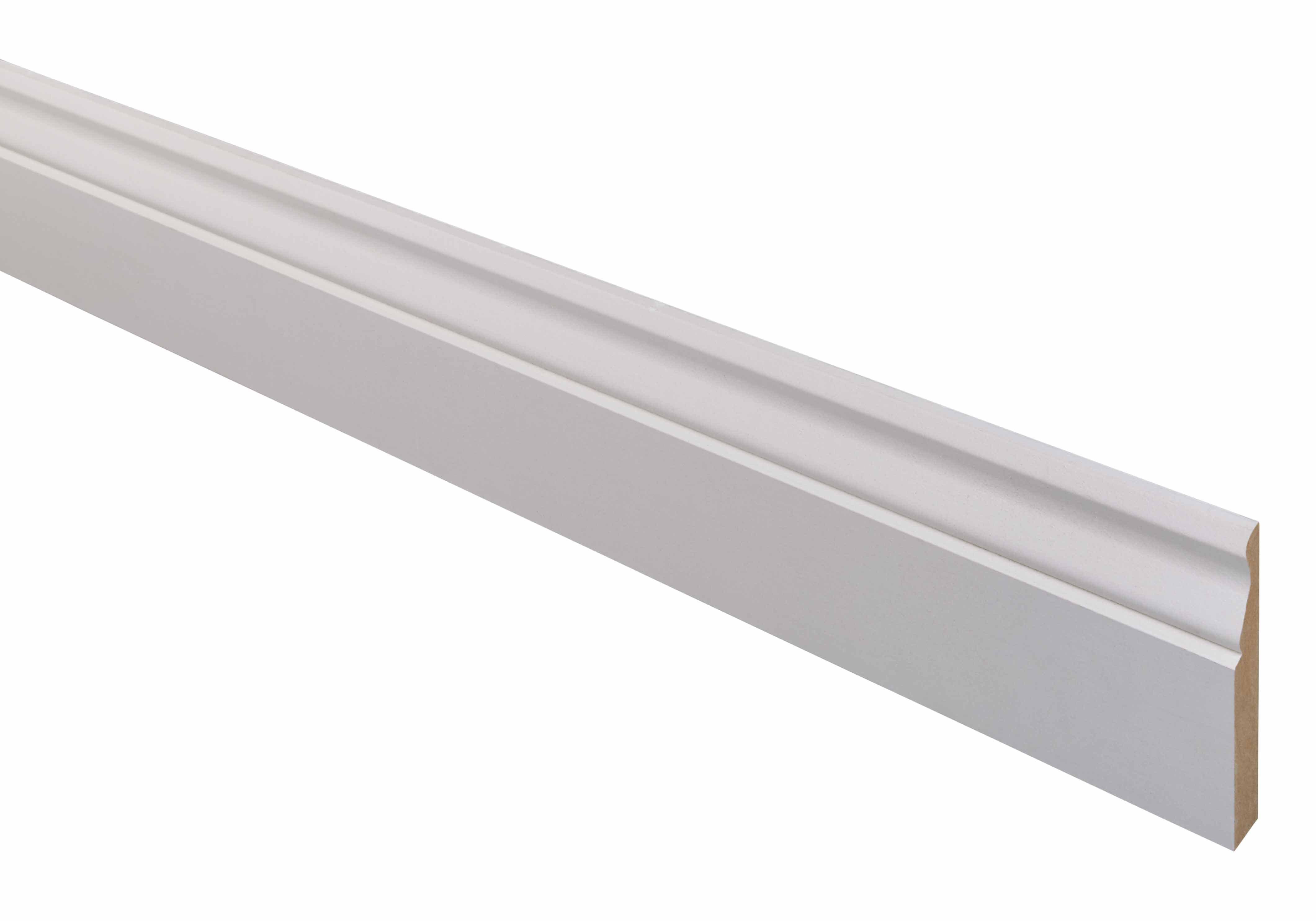 10 MDF Ogee Skirting Mouldings 18 x 119 x 2400mm