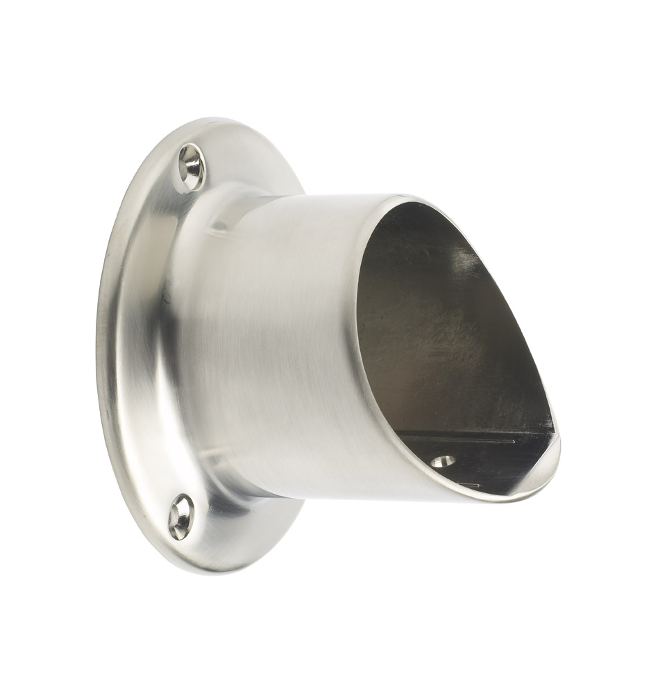 1 Fusion Wall Connector Brushed Nickel Effect