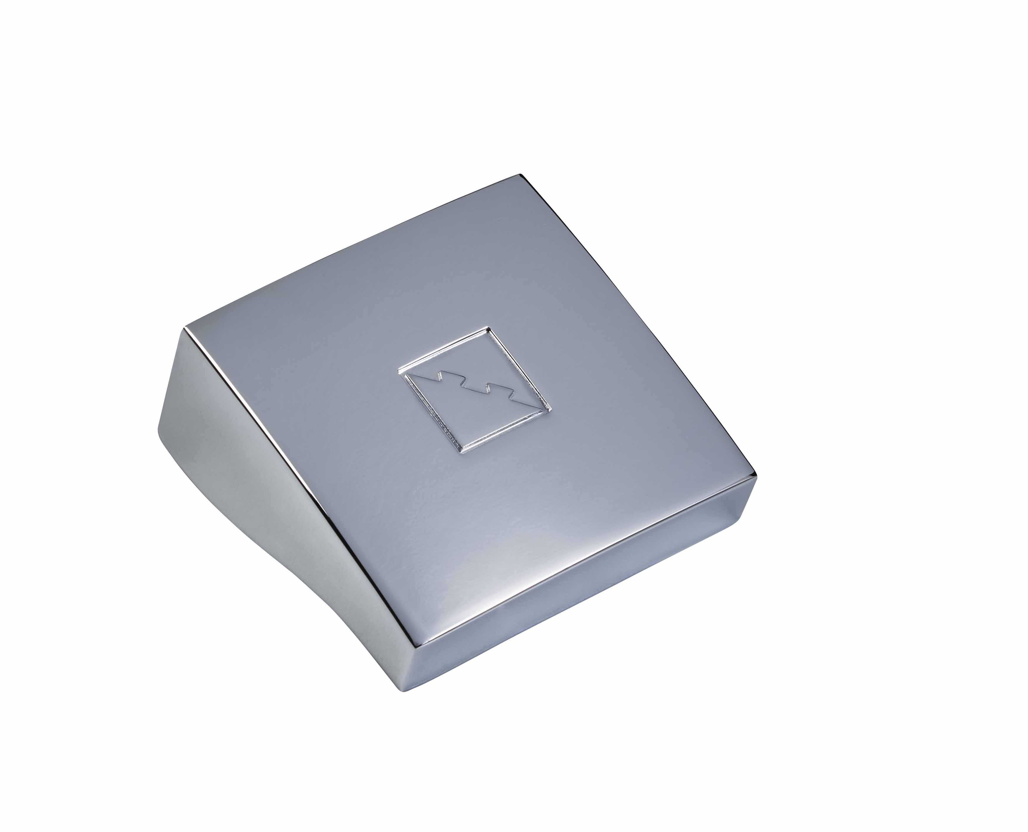 1 Fusion Square Newel Cap Chrome Effect